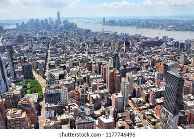 New York City - Manhattan aerial view. NY cityscape.