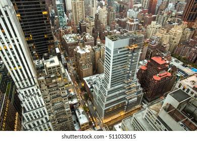 New York City. Manhattan aerial view