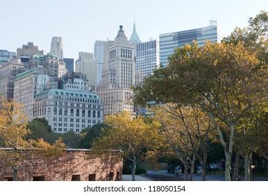 New York City Manhattan in autumn, Battery Park