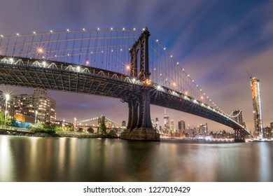 New York City - The Manhattan Bridge, Awesome wideangle view.