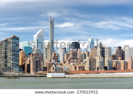 New York City Manhattan buildings skyline
