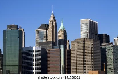 New York City Manhattan downtown skyline, New York, USA.