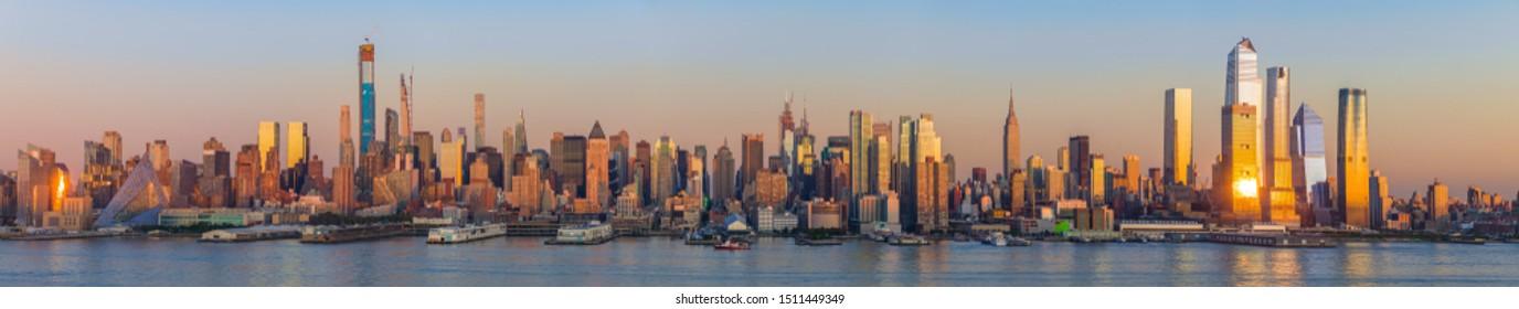 New York City Manhattan midtown buildings skyline