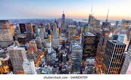 New York City - Skyline von Manhattan