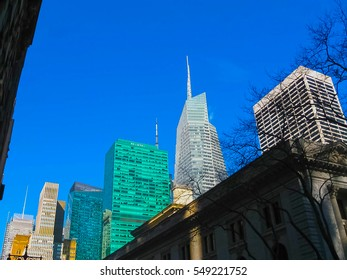 New York City Manhattan view with skyscrapers