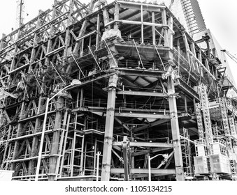 New York City, Mar 19, 2016 - Construction Site, Hudson Yards.