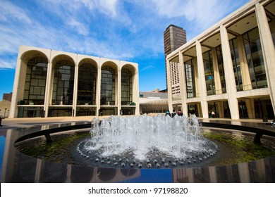 NEW YORK CITY - MAR. 9:  The Lincoln Center Plaza in NYC seen on Mar. 9, 2012.  Lincoln Ctr. is home to the Metropolitan Opera, NYC Ballet, NY Philharmonic, Avery Fisher Hall and the Juilliard School.
