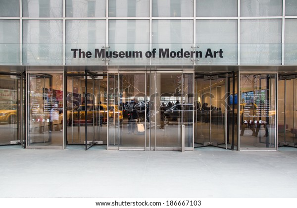 NEW YORK CITY - MARCH 14:  Street view of Museum of Modern Art in Manhattan.  The MoMA was founded in 1929.
