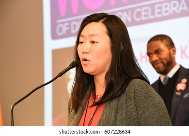 NEW YORK CITY - MARCH 17 2017: NY City Council Members Jumaane Williams & Laurie Cumbo presided over an evening of Shirley Chisholm Women of Distinction Awards. Joo-Hyun Kang