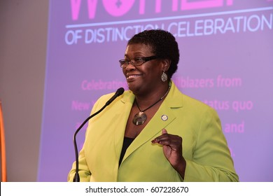 NEW YORK CITY - MARCH 17 2017: NY City Council Members Jumaane Williams & Laurie Cumbo presided over an evening of Shirley Chisholm Women of Distinction Awards. NY state senator Roxanne Persaud