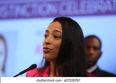 NEW YORK CITY - MARCH 17 2017: NY City Council Members Jumaane Williams & Laurie Cumbo presided over Shirley Chisholm Women of Distinction Awards. IMPACT Strategies CEO Angela Rye