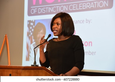 NEW YORK CITY - MARCH 17 2017: NY City Council Members Jumaane Williams & Laurie Cumbo presided over Shirley Chisholm Women of Distinction Awards. NY state assembly member Diana Richardson