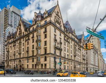 NEW YORK CITY- MARCH 23, 2018 : the Dakota Building one of the main Landmarks of  Manhattan