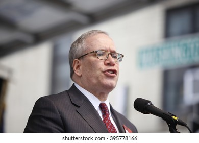 NEW YORK CITY - MARCH 23 2016:  Labor, political & religious leaders  gathered to commemorate the 105th anniversary of the Triangle Shirtwaist fire. NYC comptroller Scott Stringer