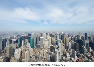 NEW YORK CITY - MARCH 27: Cityscape view of Manhattan,  March 27 2014 in New York, USA