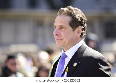 NEW YORK CITY - MARCH 29 2015: the 84th annual Greek Independence Day parade took place on 5th Avenue marking the 194th year of Greek independence from the Ottoman Empire. Governor Andrew Cuomo
