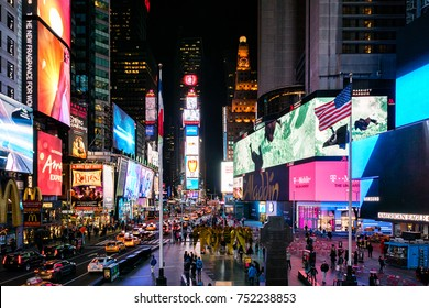 NEW YORK CITY - MARCH 3: Times Square at night in New York City, USA, March 3, 2016 in Manhattan, New York City, United States.