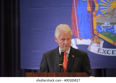NEW YORK CITY - MARCH 31 2016: Former president Bill Clinton campaigned in New York City on behalf of his wife, Democratic front runner Hillary Rodham Clinton at organized labor venues