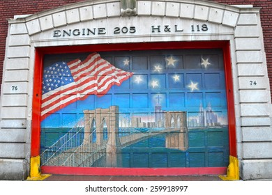 NEW YORK CITY - MARCH 8, 2015: Fire station, Brooklyn, New York City, USA.