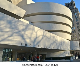 NEW YORK CITY - MARCH 9, 2015: The Guggenheim Museum in New York City, USA