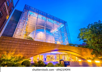 NEW YORK CITY - MAY 13, 2012: The Hayden Planetarium, part of the American Museum of Natural History, at dusk.