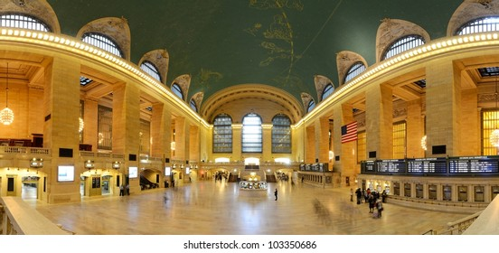 NEW YORK CITY - MAY 14: Interior of Grand Central Station May 14, 2012 in New York, NY. The terminal is the largest train station in the world by number of platforms having 44.