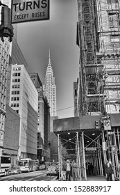 NEW YORK CITY - MAY 14: The Chrysler building was the world's tallest building (319 m) before it was surpassed by the Empire State Building in 1931, on May 14,2013 in Manhattan, New York City