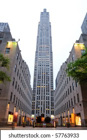 NEW YORK CITY - MAY 14: The historic art deco construction of the GE building in Rockefeller Center is home to numerous television studios May 14, 2010 in New York City.