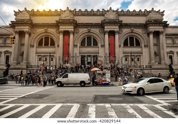 NEW YORK CITY - MAY 14: Metropolitan Museum of Art in New York City on May 14, 2016. The MET is a NYC landmark which and is the largest art museum in the United States.
