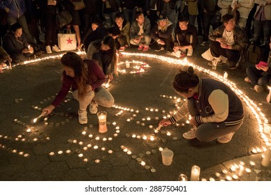 New York City - May 2, 2015, Union Square: The Nepalese Community in New York City pray for Nepal after the disastrous earthquake on April, 25, 2015.