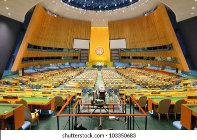 NEW YORK CITY - MAY 21: The United Nations General Assembly May 21, 2012 in New York, NY. It is the only organ of the U.N. in which all member nations have equal representation.