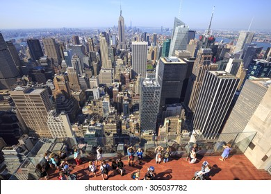 View From Rockefeller Center Images Stock Photos Vectors
