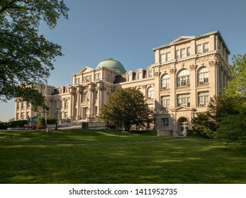 New York City - May 26, 2019: The Mertz Library in the New York Botanical Garden in Bronx, New York.