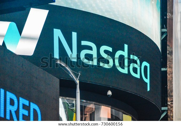 NEW YORK CITY, May 27 2017: A Nasdaq headqwaters on Times Square, New York City. MarketSite is epicentre for Nasdaq and it is located on New York City`s Times Square.