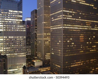 New York City near times square at night