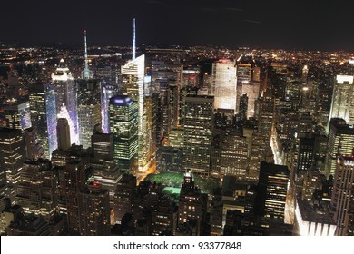 New York City at night, view from Empire Building