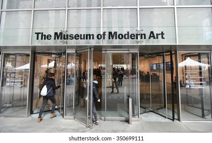 NEW YORK CITY - NOV 11: View of the exterior of the Museum of Modern Art in Manhattan on Nov 11, 2015 in New York City, USA. Opened in 1929 Moma currently receives around 3 million visitors annually.