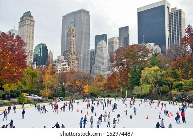 NEW YORK CITY - NOV 13:  New York's famous Wollman Ice Rink in Central Park is operated by the Trump organization and opened in 1949, November 13th, 2011.
