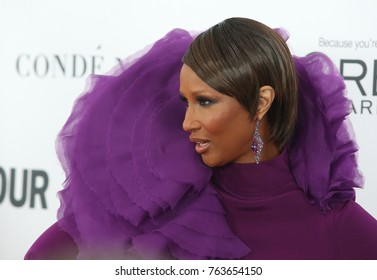 NEW YORK CITY - NOVEMBER 13 2017: The annual Glamour Women of the Year Awards ceremony was held in Brooklyn's Kings Theater on Flatbush Ave. Somali high fashion model Iman