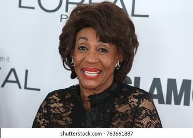 NEW YORK CITY - NOVEMBER 13 2017: The annual Glamour Women of the Year Awards ceremony in Brooklyn's Kings Theater on Flatbush Ave. Congressional Representative Maxine Waters