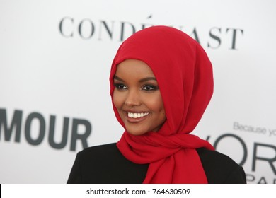 NEW YORK CITY - NOVEMBER 13 2017: The annual Glamour Women of the Year Awards ceremony was held in Brooklyn's Kings Theater on Flatbush Ave. Fashion model Halima Aden