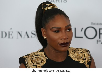 NEW YORK CITY - NOVEMBER 13 2017: The annual Glamour Women of the Year Awards ceremony was held in Brooklyn's Kings Theater on Flatbush Ave. Serena Williams