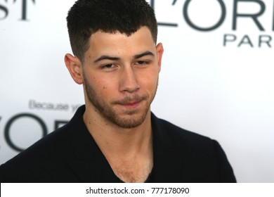 NEW YORK CITY - NOVEMBER 13 2017: The annual Glamour Women of the Year Awards ceremony was held in Brooklyn's Kings Theater on Flatbush Ave. Nick Jonas of the Jonas Brothers