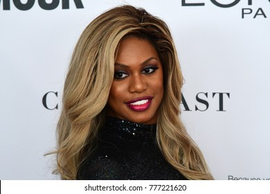 NEW YORK CITY - NOVEMBER 13 2017: The annual Glamour Women of the Year Awards ceremony was held in Brooklyn's Kings Theater on Flatbush Ave. Actress Laverne Cox