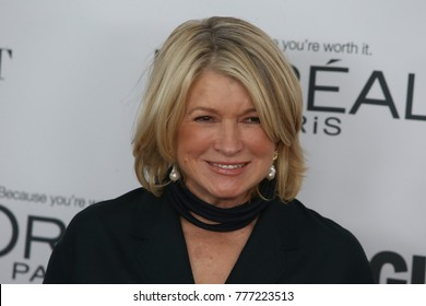 NEW YORK CITY - NOVEMBER 13 2017: The annual Glamour Women of the Year Awards ceremony was held in Brooklyn's Kings Theater on Flatbush Ave. Martha Stewart