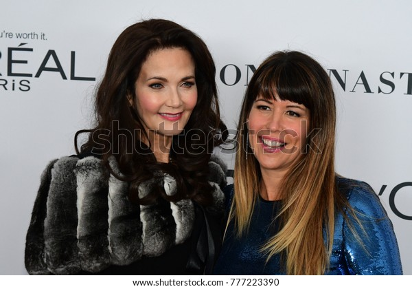 NEW YORK CITY - NOVEMBER 13 2017: The annual Glamour Women of the Year Awards ceremony was held in Brooklyn's Kings Theater on Flatbush Ave. Original Wonder Woman Lynda Carter & Director Patty Jenkins