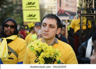 NEW YORK CITY - NOVEMBER 15 2015: Transportation Alternatives held its World Day of Remembrance for victims of traffic accidents.