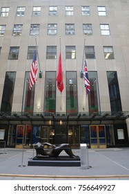 NEW YORK CITY - NOVEMBER 16, 2017: Christie's main headquarters at Rockefeller Plaza in New York. Christie's is the world's largest art business and a fine arts auction house