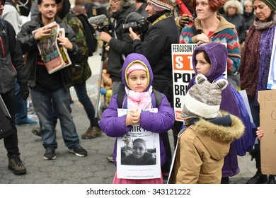 NEW YORK CITY - NOVEMBER 22 2015: Stop Mass Incarcerations Network sponsored a children's march on the one year anniversary of Tamir Rice's death at the hands of the Cleveland police.