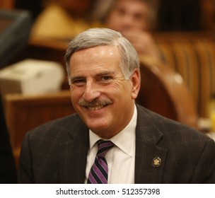 NEW YORK CITY - NOVEMBER 4 2016: Key figures in New York's Democratic Party gathered at Junior's in Brooklyn for Steve Cohn's annual pre-election breakfast. Assembly member David Weprin